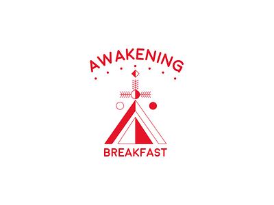 Awakening geometric design vector illustration logo design branding