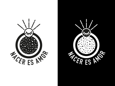 Nacer Es Amor love geometric design vector illustration logo branding