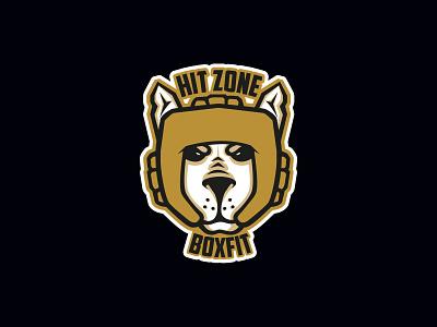 Hit Zone animals dog fitnes box illustration vector design branding logo