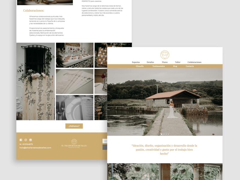 El Taller De Los Detalles - Web Design wedding flowers home web site clean freelance designer web design concept uidesign ui  ux design web