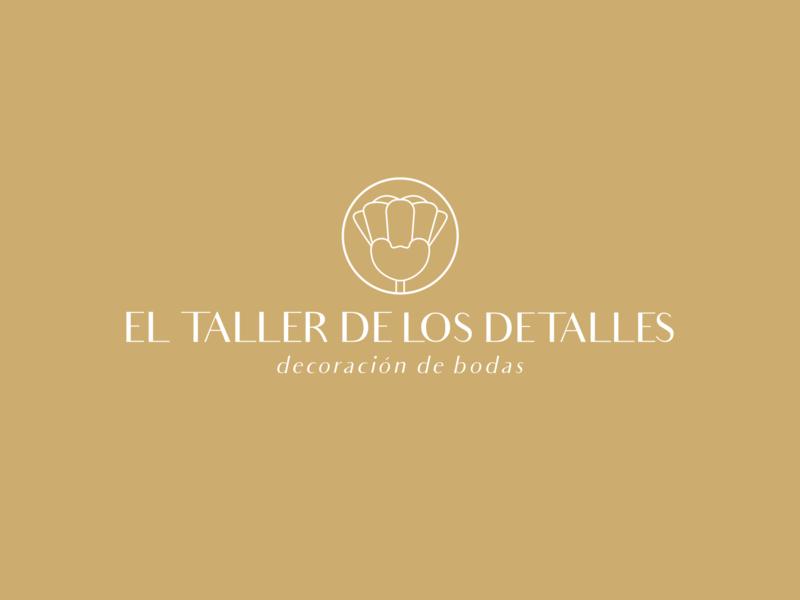 El Taller De Los Detalles icon flower logo geometric design vector design illustration branding logo