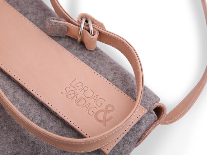 Lørdag & Søndag clean design bag design fashion product design product branding branding logo