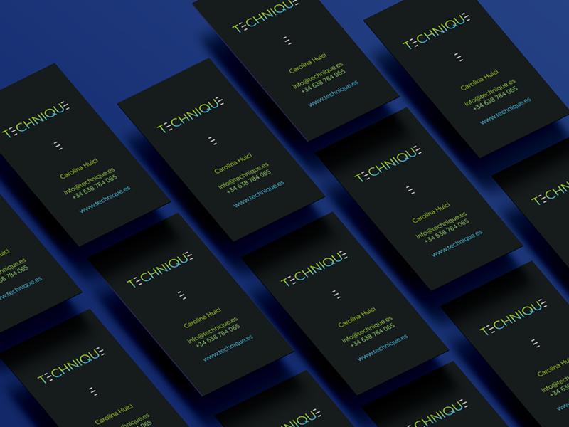 Bussines Card - Technique dark background busines card design branding logo