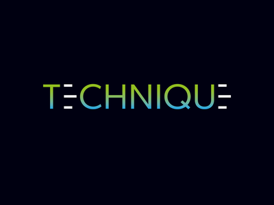Technique visual merchandising marketing clean vector typography branding logo
