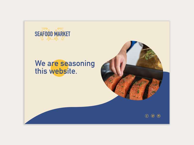 Seafood Market - Web Design prelaunch sketch app branding seafood work in progress web design ui logo
