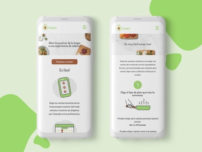 Keaioi.co clean avocado food meals mobile icon design web design ui ui  ux design