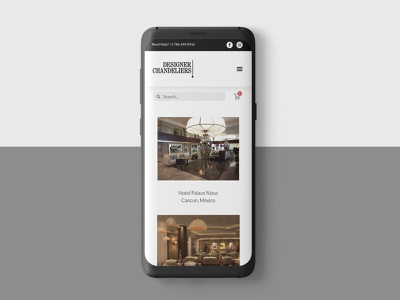 Designer Chandeliers - Mobile mobile store ecommerce web clean ux ui