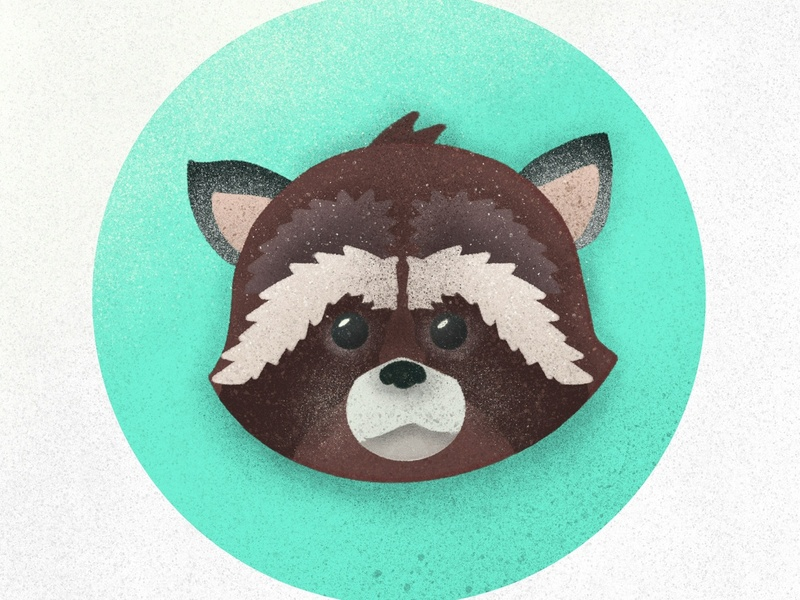 raccoon grain face drawing art pixel character texture cartoon 2d icon minimal design illustration flat