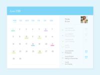 Daily UI challenge #038 — Calendar