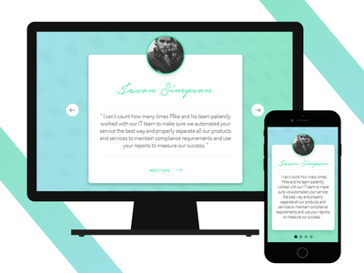 Daily UI #039 - Testimonials testimonials quote design ui mobile web 039 dailyui
