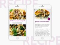 Daily UI challenge #040 — Recipe
