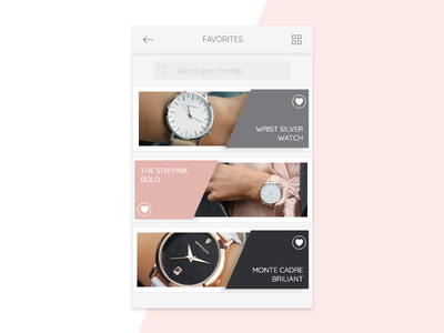 Daily UI #044 - Favorites challenge simple 044 design watch favourite save mobile ui dailyui