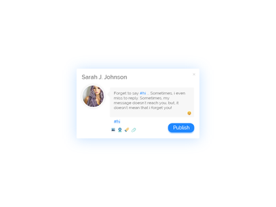 Status Update- Daily UI #081 tags profile update status challenge design ux ui dailyui