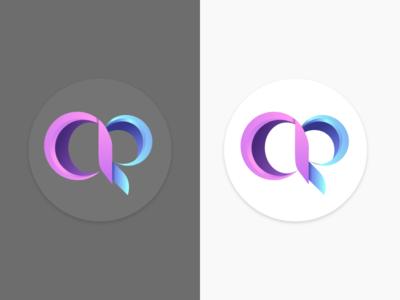 Logo design AR colors gradient letter r letter a graphicdesign personal brand adobexd illustrator logodesign logo design