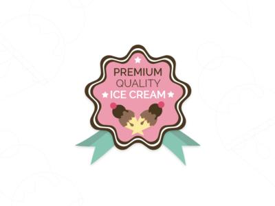 Badge - Daily UI challenge 084 adobexd adobe illustrator chocolate ice age world ice cream badgedesign badge challenge ux illustration design ui dailyui