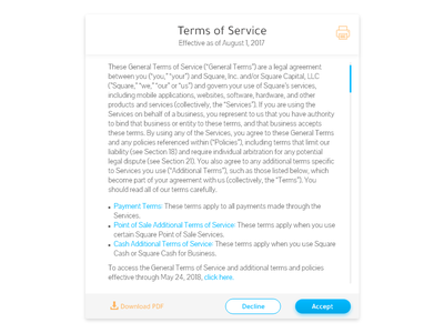 Daily UI #089 - Terms of Service 089 terms of service ui design simple clean challenge web ux ui design dailyui