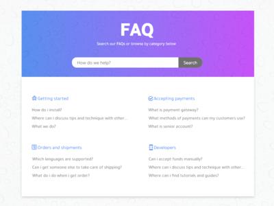 FAQ - Daily UI:: #092 website faqs gradient simple web ux design ui dailyui