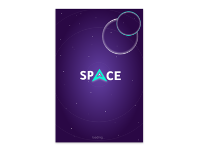 Splash Screen- Daily UI:: #093 screen intro loading space splash logo app gradient mobile challenge ux ui design dailyui