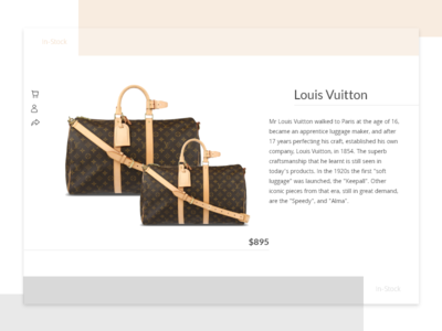 Daily UI #096 - Currently In-Stock shop product stock in-stock simple challenge design web ux ui dailyui