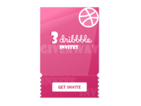 Giveaway / Dribbble Invite / Daily UI #097