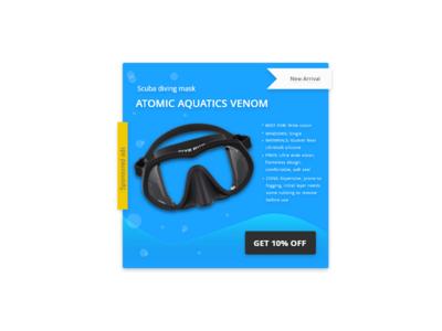 Daily UI 098 - Advertisement ads scuba diving advertisement concept challenge ux ui design dailyui