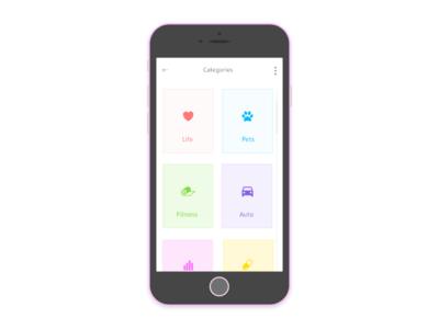 Categories- Daily UI:: #099 color 099 minimal mobile ux challenge design ui dailyui