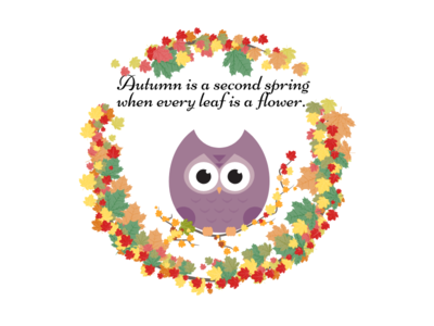Autumn Illustration autumn leaves leaves october illustration design adobeillustator owls owl leaf autumn illustration