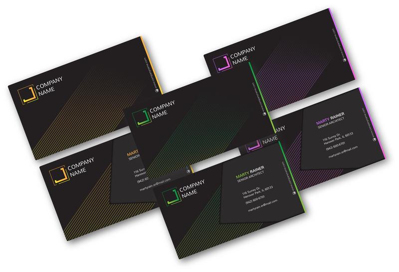 Business Card logo branding dark design business card business card design business