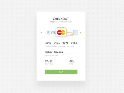 Check Out Form forms checkout flat ui design dailyui