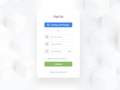 Sign Up Form ui signup signupform forms flat design dailyui