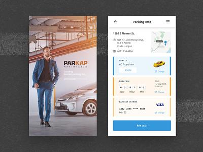 PARKAPP - Park Like a Boss design uidesign flat parking app parking
