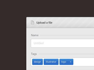 Upload window