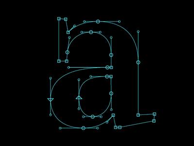 a like apple wip workinprogress glyphs bezier outlines corona type design typography typeface type