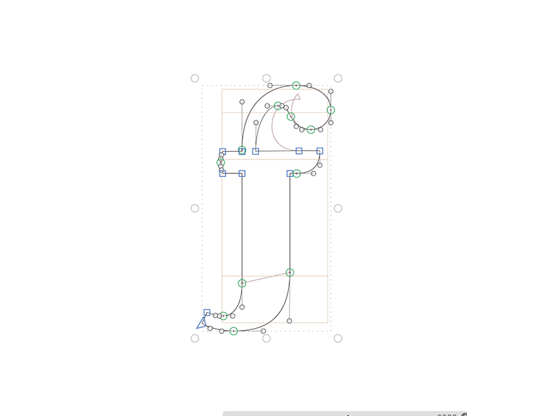 Letter F glyphsapp glyphs layout curves bezier outlines typography type design type