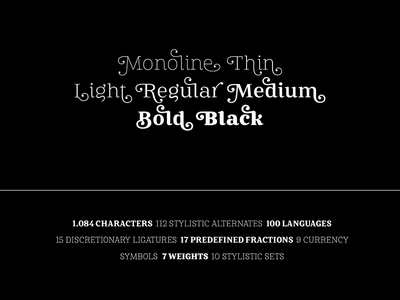 Mireille typography france french display font text font stylistic set font alternates swashes ligature typeface type