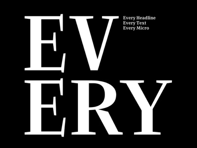 Every Font Family type design font family branding typedesign editorial serif optical optical weight optical size typeface type typography