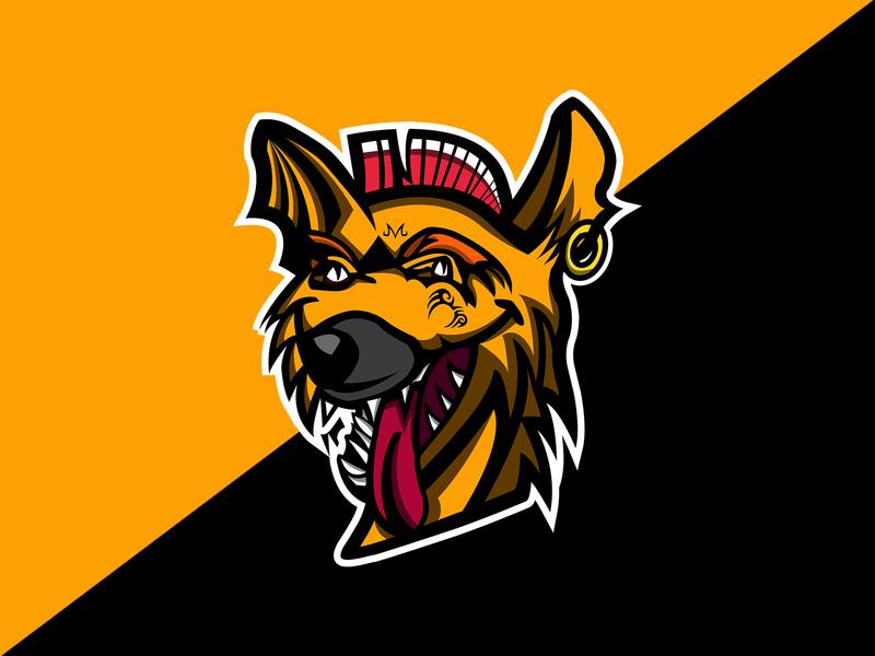 Hyena with Mohawk Mascot Logo hyena logo mascot logo design mascot logo design clean logo logo logo design logodesign logo branding exploration branding