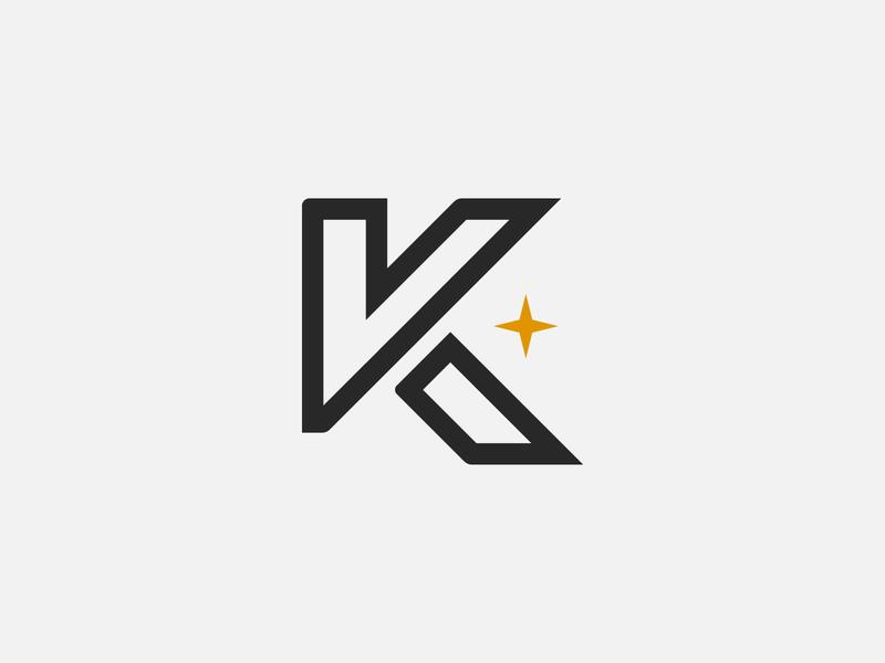 K Logo with Star k letter logo k star star logo k logo with star k logo modern logo design clean logo logo logo design logodesign logo branding exploration branding