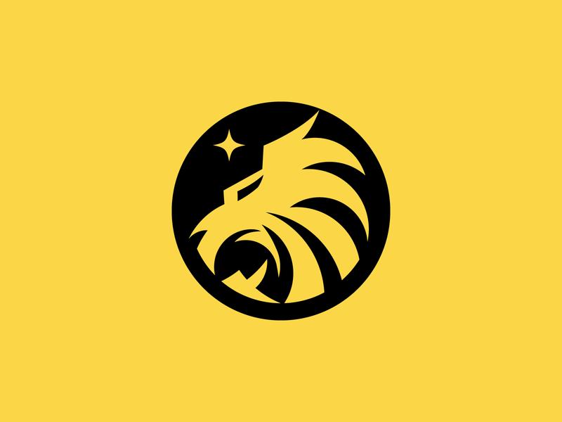 Lion + Star Logo animal logos lion head animal logo design lion logo lion animallogo animal logo illustration design logo logo design logodesign logo branding exploration branding