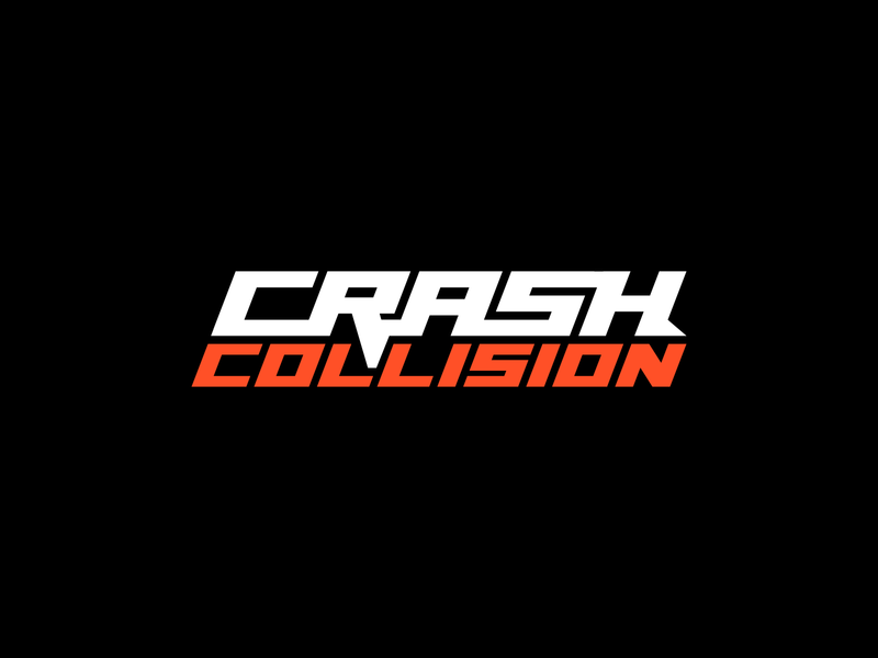 CrashCollision Logo wordmark wordmark logo letters modern logo clean logo design logo exploration logo design logodesign logo branding branding