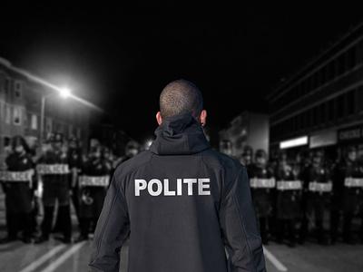 POLITE streetwear politics police brutality policeman police