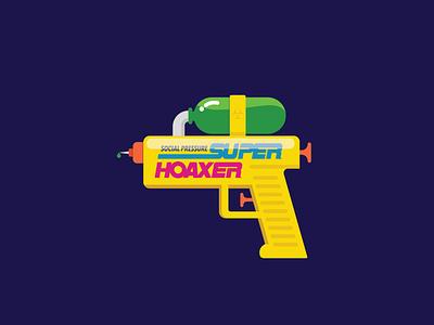Social Pressure Super Hoaxer covid design vector illustration logo