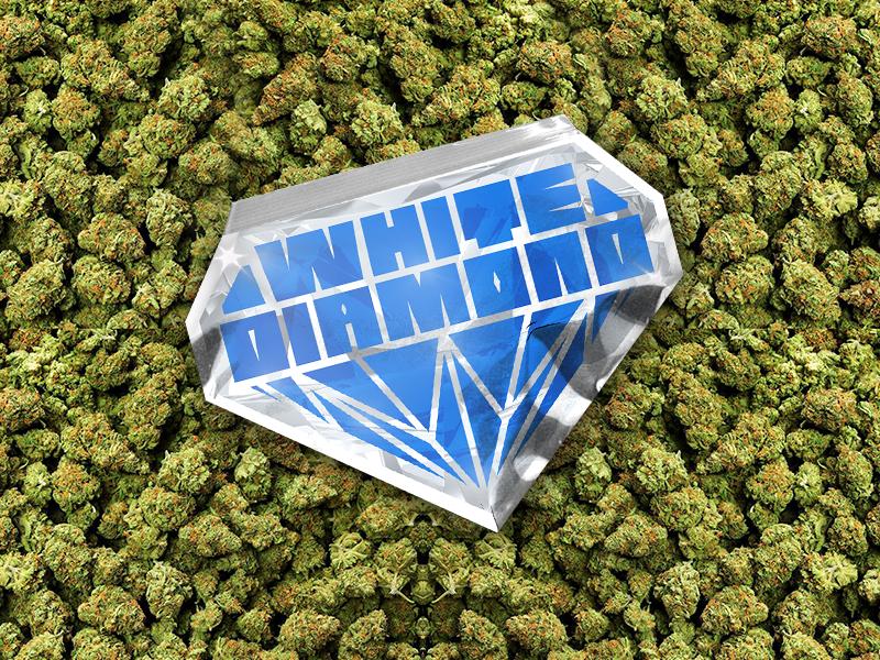 White Diamond Custom Poly Bag logo diamond branding design packaging