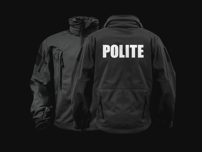 Polite Tactical Soft Shell clothing jacket fashion polite police