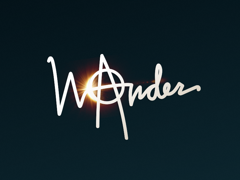WⒶnder typography logo rebel wonder wander