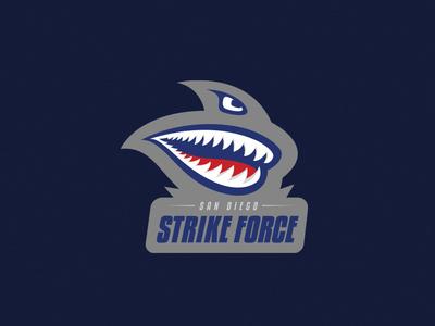 San Diego Strike Force Logo san diego football sports logo design branding logo