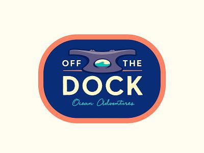 Off The Dock ocean insignia logo design branding logo