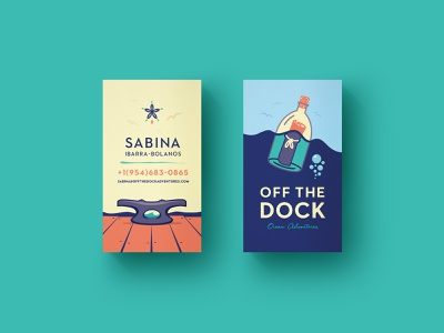 Off The Dock Business Cards business cards stationery design branding