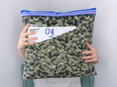 OG Kushion Weed Pillow apparel streetwear design novelty cannabis weed pillow production products product
