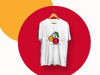 Cherry Fruits - TShirt Design